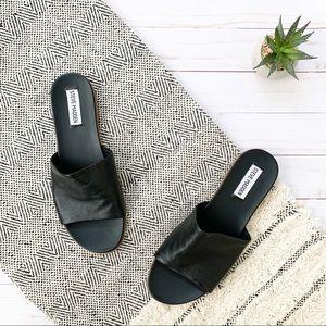 Steven Madden Black Karolyn Sandal Slides Size 8